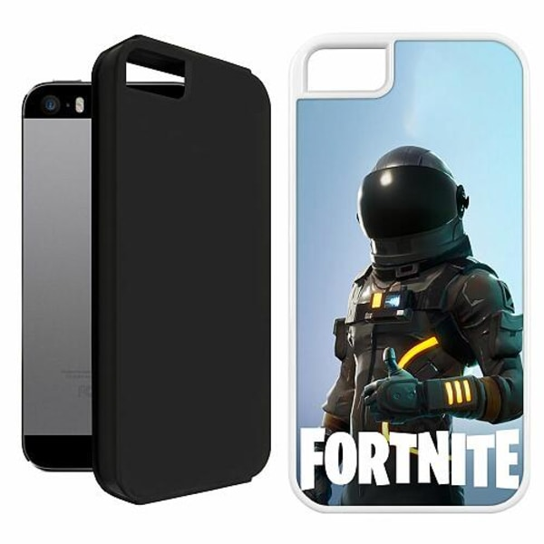 Apple iPhone 5 / 5s / SE Duo Case Vit Fortnite Dark Voyager