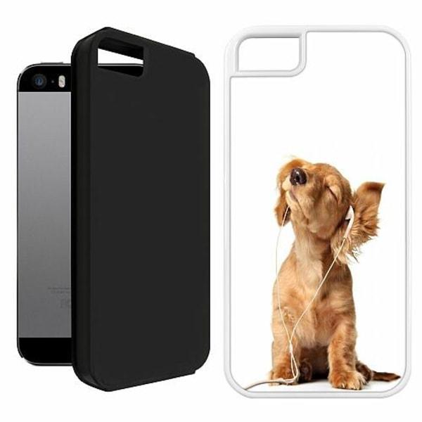 Apple iPhone 5 / 5s / SE Duo Case Vit Hund