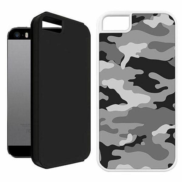 Apple iPhone 5 / 5s / SE Duo Case Vit Military B/W