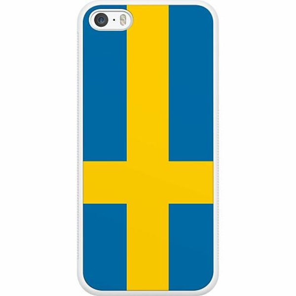 Apple iPhone 5 / 5s / SE Soft Case (Vit) Heja Sverige / Sweden