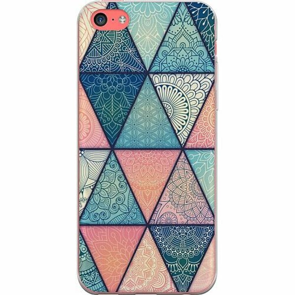 Apple iPhone 5c TPU Mobilskal Mandala triangles