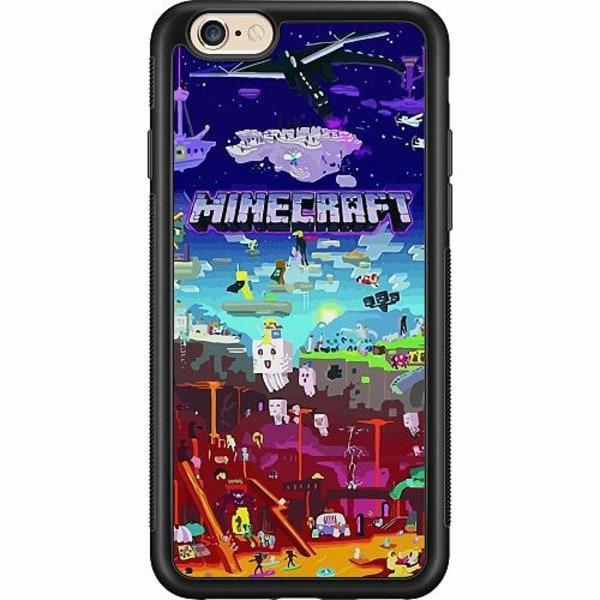 Apple iPhone 6 / 6S Soft Case (Svart) MineCraft
