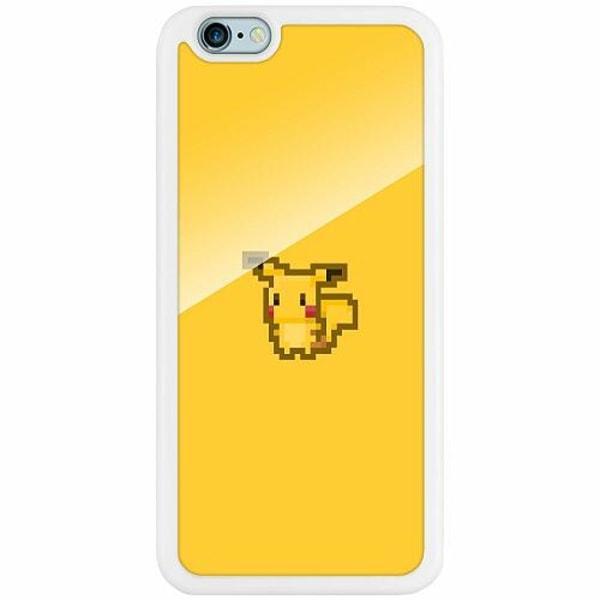 Apple iPhone 6 / 6S Vitt Mobilskal med Glas Pixel art Pokémon