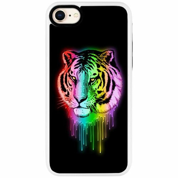Apple iPhone 7 Duo Case Vit Tiger
