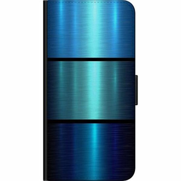 Apple iPhone 5 / 5s / SE Fodralväska Blue Metallic Stripes