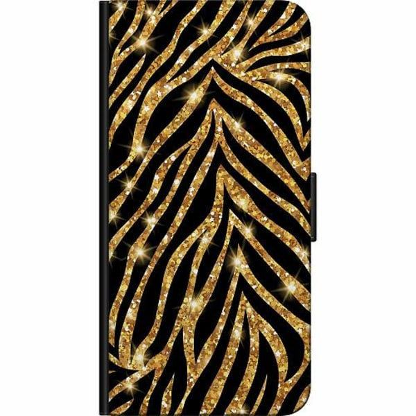 Samsung Galaxy S21 Ultra Fodralväska Gold & Glitter