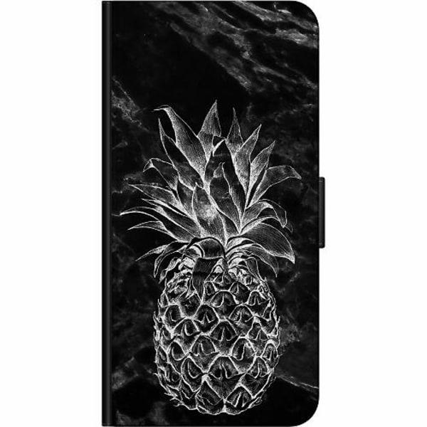 Apple iPhone 5 / 5s / SE Fodralväska Marmor Ananas