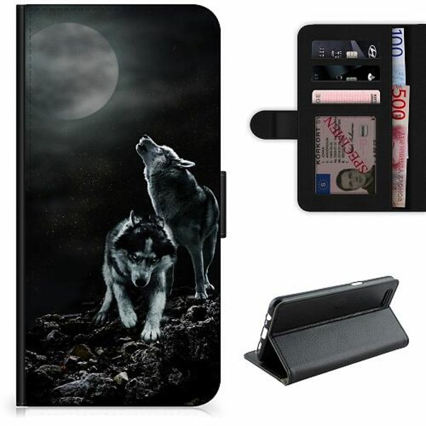 Samsung Galaxy S21+ Lyxigt Fodral Howling Wolves