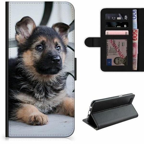 Samsung Galaxy S21+ Lyxigt Fodral Schäfer Puppy