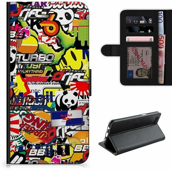 Apple iPhone 5 / 5s / SE Lyxigt Fodral Stickers