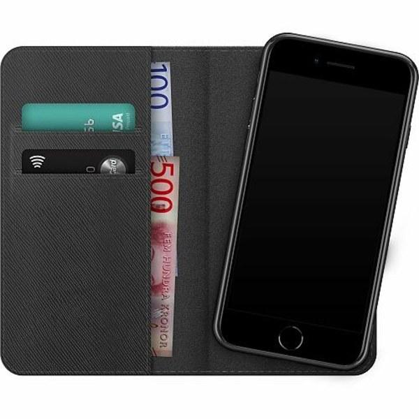 Apple iPhone SE (2020) Magnetic Wallet Case Demon Slayer