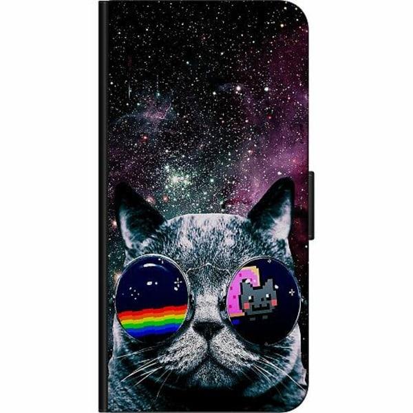 Apple iPhone 8 Plus Billigt Fodral Space Cat
