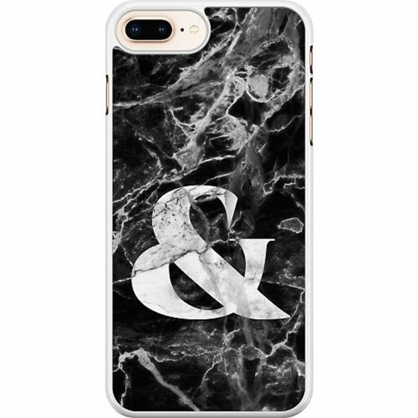 Apple iPhone 7 Plus Hard Case (Vit) Marmor & Svart