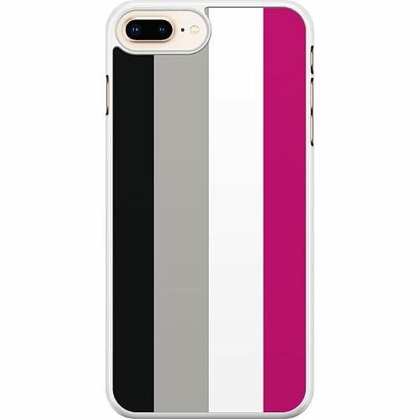 Apple iPhone 7 Plus Hard Case (Vit) Pride - Asexual