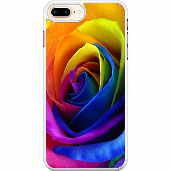 Apple iPhone 7 Plus Hard Case (Vit) Rainbow Rose