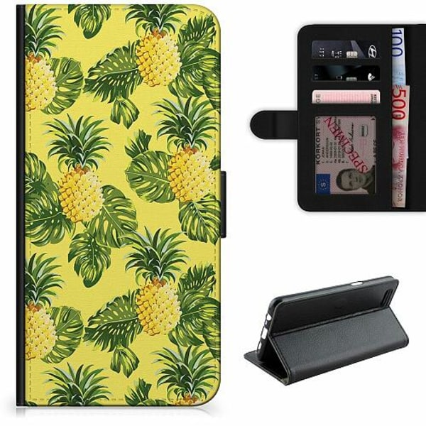 Apple iPhone 5 / 5s / SE Lyxigt Fodral Ananas