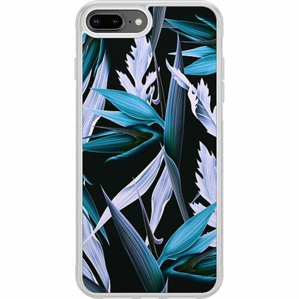 Apple iPhone 7 Plus Soft Case (Frostad) Blue Flower