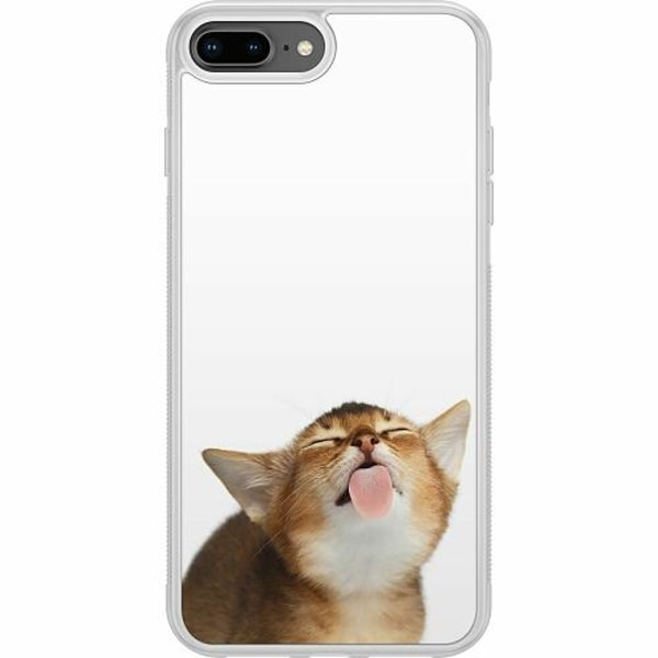 Apple iPhone 7 Plus Soft Case (Frostad) Cat Keeps You Clean