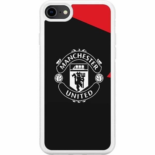 Apple iPhone 8 Soft Case (Vit) Manchester United FC