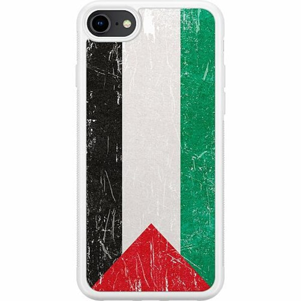 Apple iPhone 8 Soft Case (Vit) Palestina Flagga