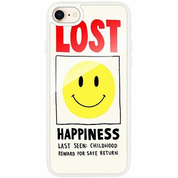 Apple iPhone 8 Transparent Mobilskal med Glas Lost