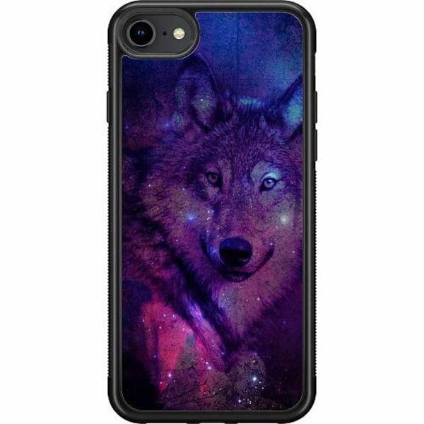 Apple iPhone 7 Soft Case (Svart) Wolf / Varg