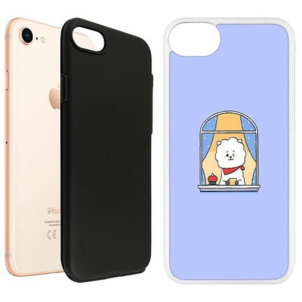 Apple iPhone 8 Duo Case Vit Kawaii
