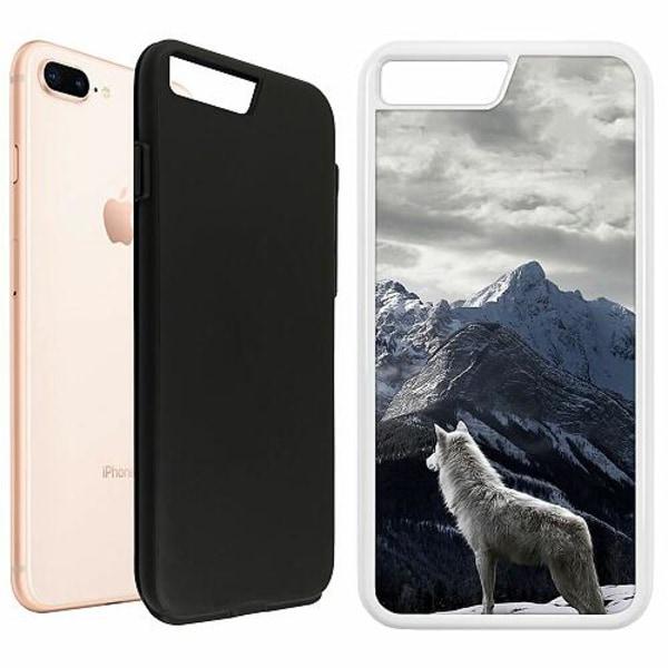 Apple iPhone 8 Plus Duo Case Vit Wolf / Varg