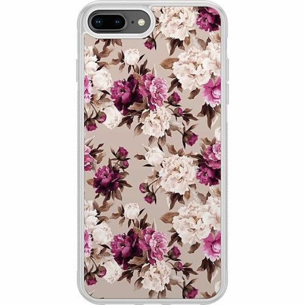 Apple iPhone 7 Plus Soft Case (Frostad) Blommor