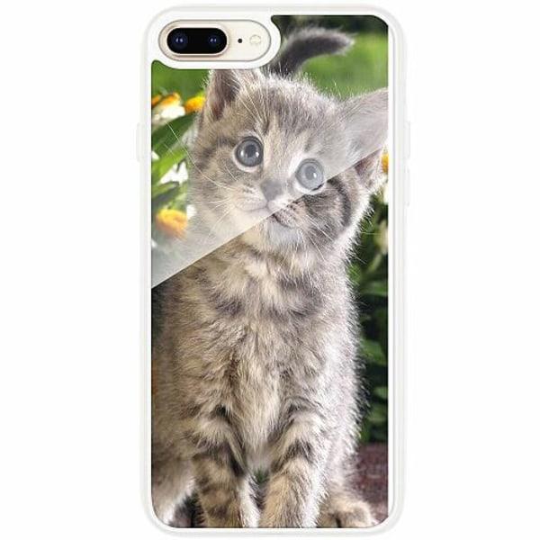 Apple iPhone 7 Plus Transparent Mobilskal med Glas Cat