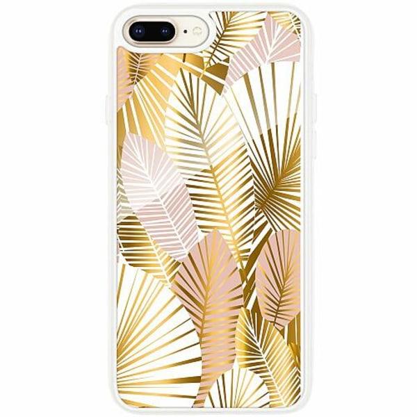 Apple iPhone 7 Plus Transparent Mobilskal med Glas Gold