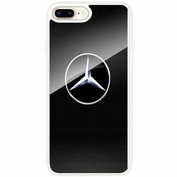 Apple iPhone 7 Plus Transparent Mobilskal med Glas Mercedes