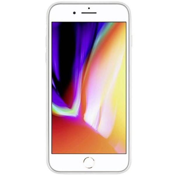 Apple iPhone 8 Plus Transparent Mobilskal med Glas Mario