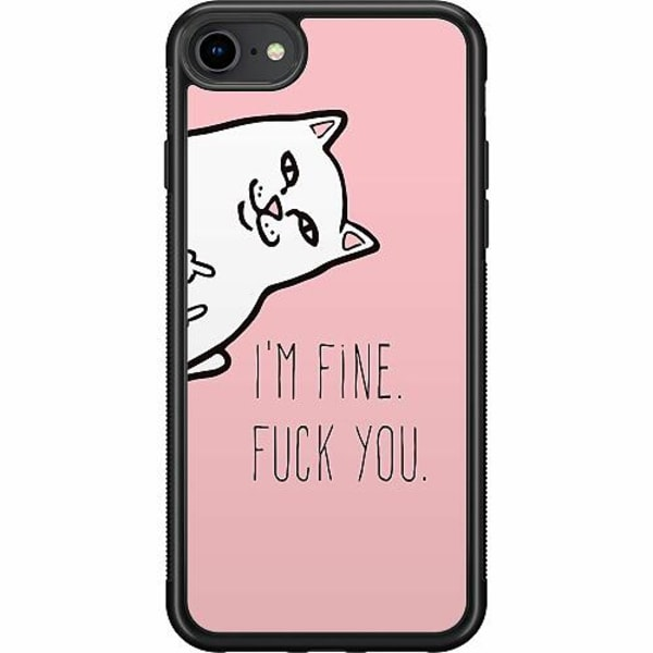 Apple iPhone 7 Soft Case (Svart) Fine