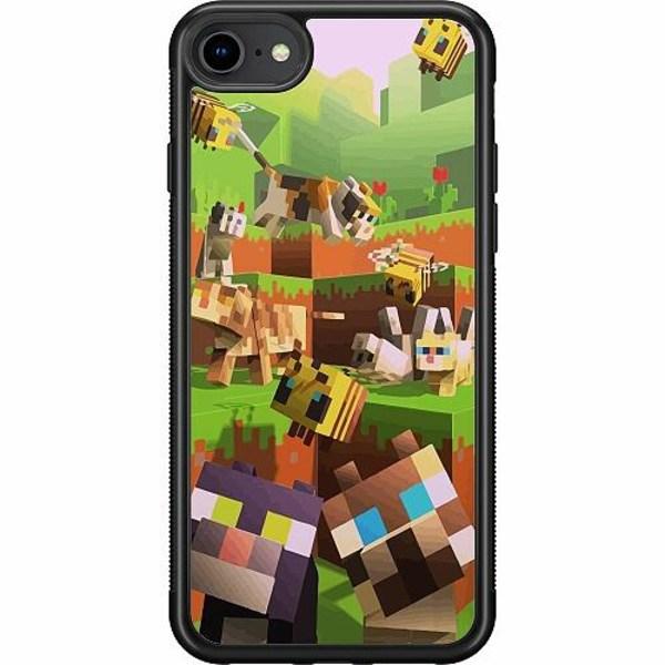 Apple iPhone SE (2020) Soft Case (Svart) MineCraft
