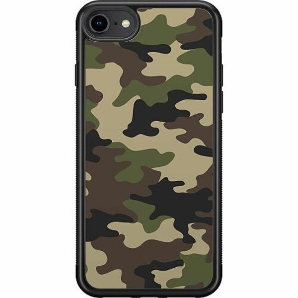 Apple iPhone 7 Soft Case (Svart) Woodland Camo