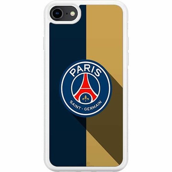 Apple iPhone 8 Soft Case (Vit) Paris Saint-Germain FC