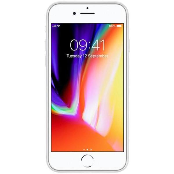 Apple iPhone 8 Transparent Mobilskal med Glas Color