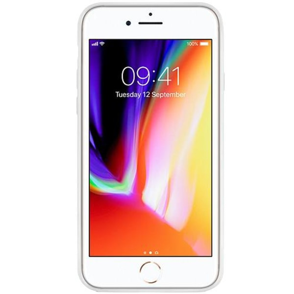 Apple iPhone 7 Vitt Mobilskal med Glas Ice