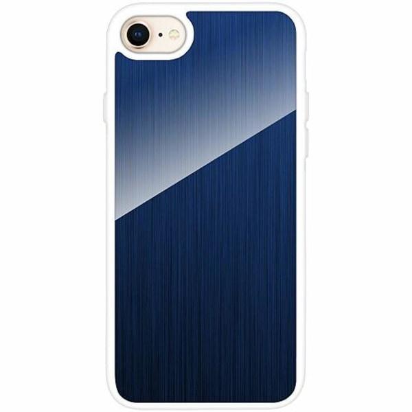 Apple iPhone 7 Vitt Mobilskal med Glas Pattern