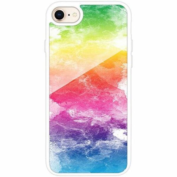 Apple iPhone 7 Vitt Mobilskal med Glas Pride
