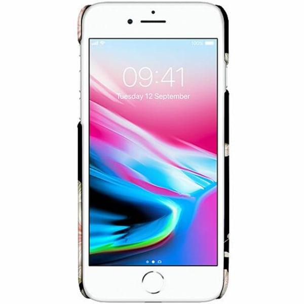 Apple iPhone 7 LUX Mobilskal (Matt) Floral Pattern Black