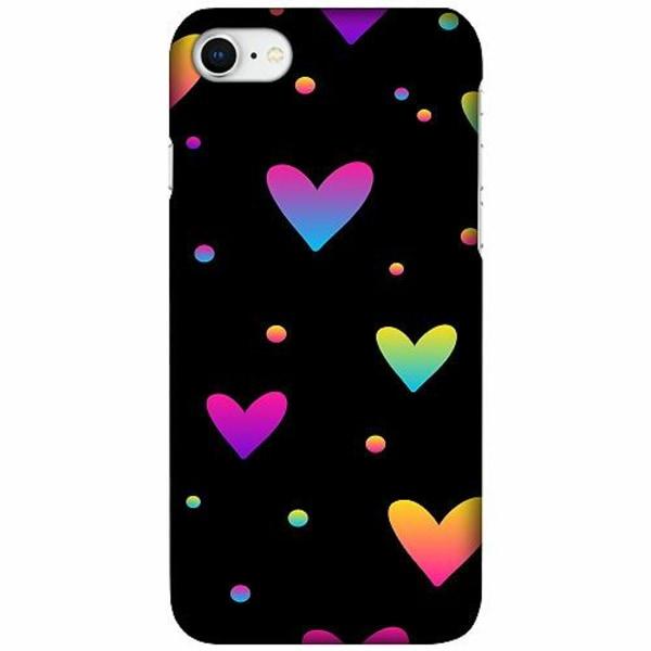 Apple iPhone 7 LUX Mobilskal (Matt) Neon Hearts