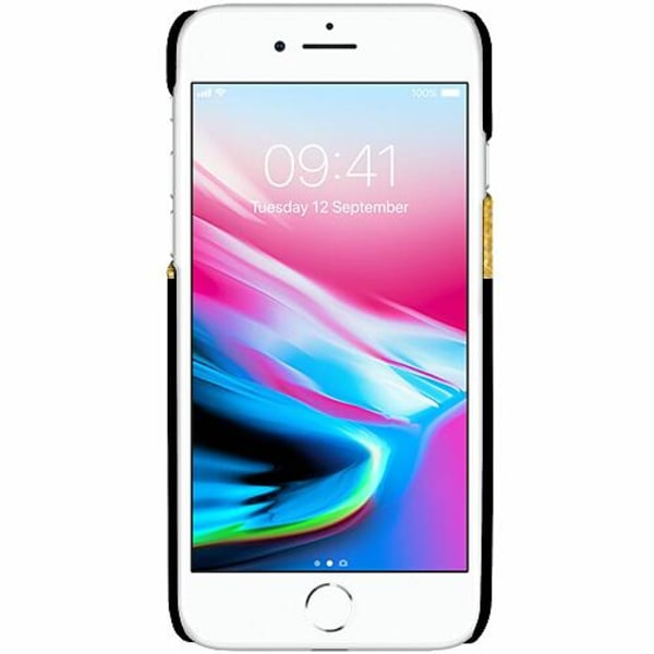 Apple iPhone 7 LUX Mobilskal (Matt) Queen 01 Black Gold