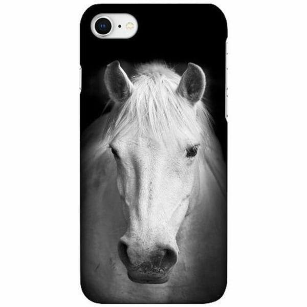 Apple iPhone 7 LUX Mobilskal (Matt) Vit Häst