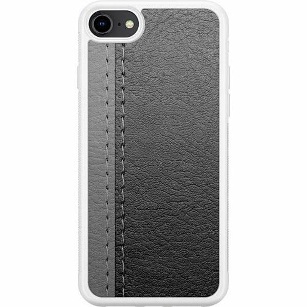 Apple iPhone 8 Soft Case (Vit) Black & Grey Leather