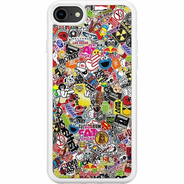 Apple iPhone 8 Soft Case (Vit) Stickers