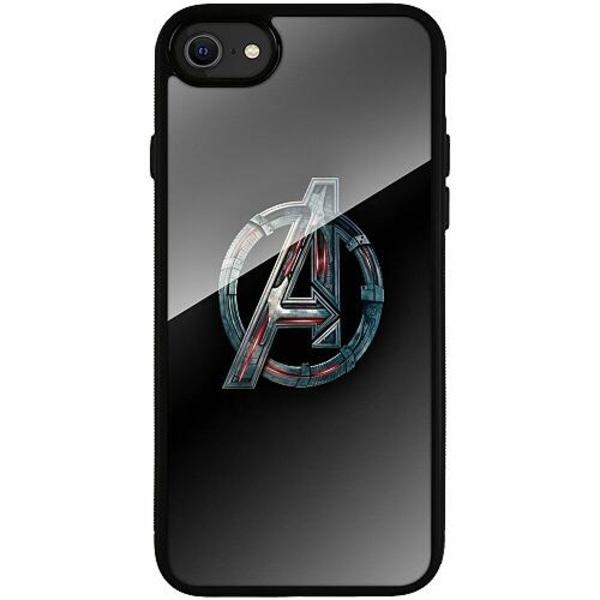 Apple iPhone SE (2020) Svart Mobilskal med Glas Avengers