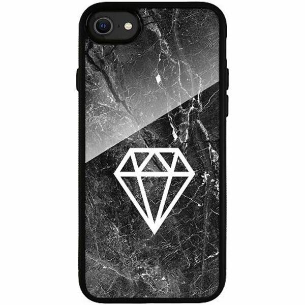 Apple iPhone SE (2020) Svart Mobilskal med Glas Diamond