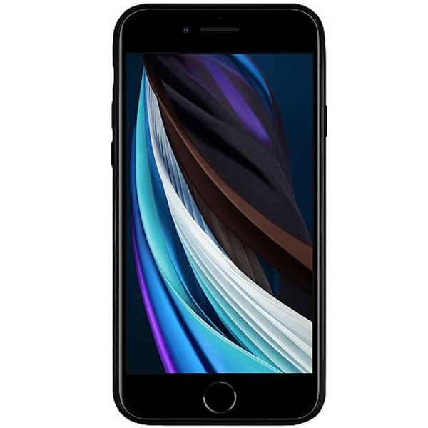 Apple iPhone SE (2020) Svart Mobilskal med Glas Lemon